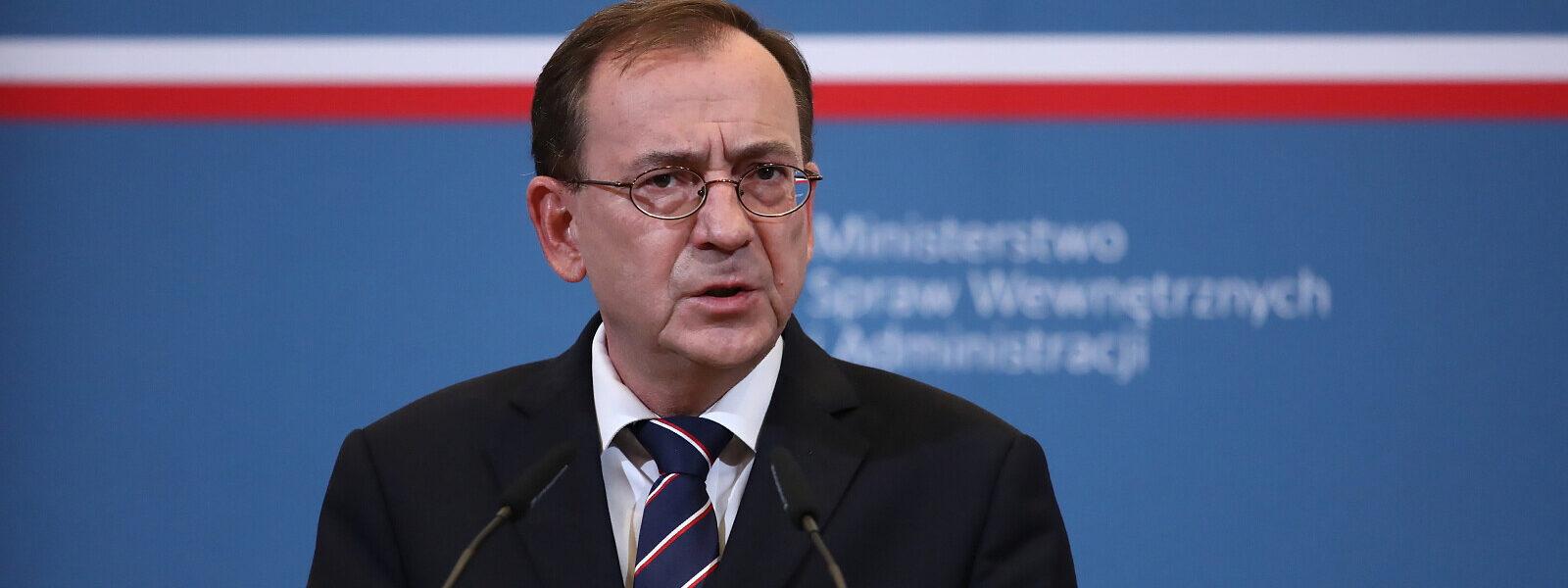szef-mswia:-nasze-dzialania-skutecznie-ustabilizuja-sytuacje-na-granicy-z-bialorusia